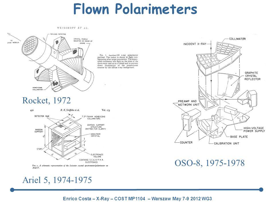 Flown Polarimeters Rocket, 1972 OSO-8, 1975-1978 Ariel 5, 1974-1975