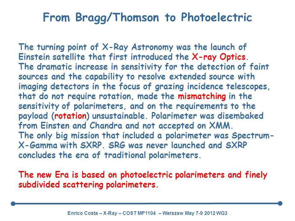 From Bragg/Thomson to Photoelectric