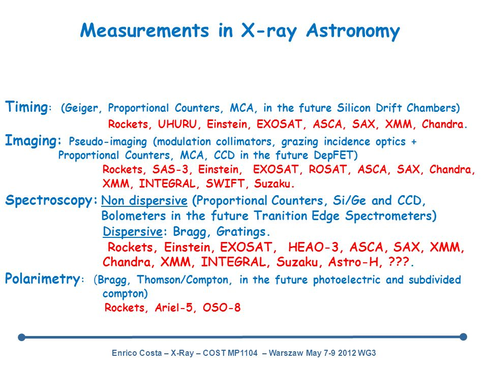 Measurements in X-ray Astronomy