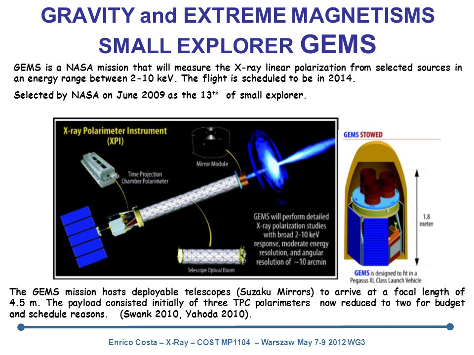 GRAVITY and EXTREME MAGNETISMS SMALL EXPLORER GEMS