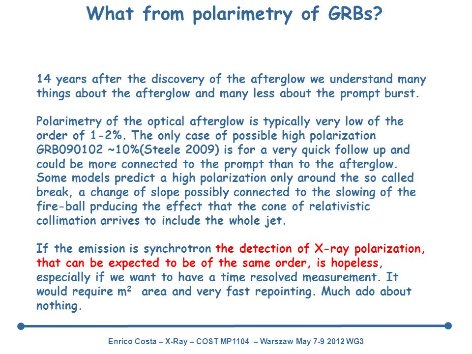 What from polarimetry of GRBs
