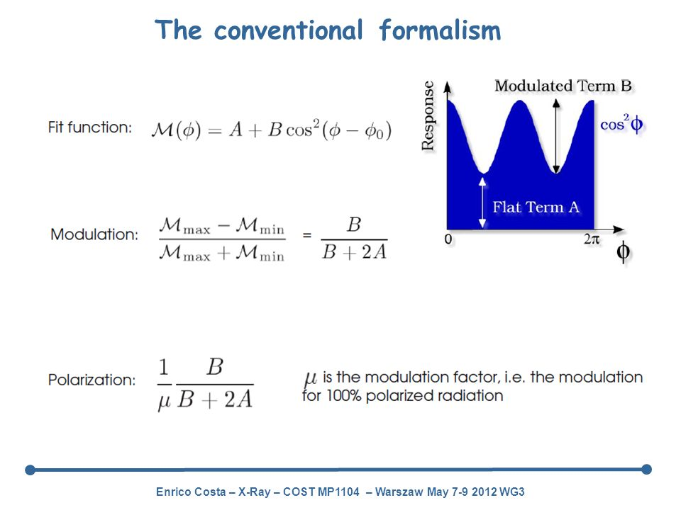 The conventional formalism