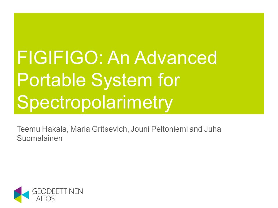 FIGIFIGO: An Advanced Portable System for Spectropolarimetry