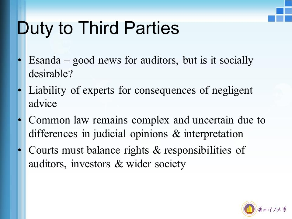 third party liability in audit