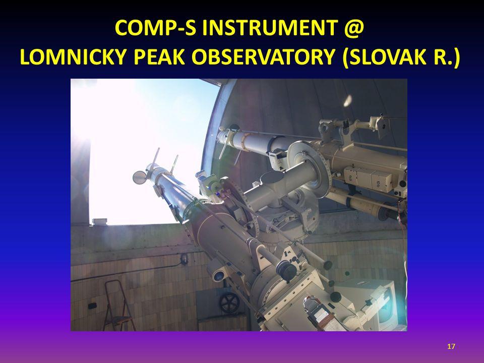 CoMP-S instrument @ Lomnicky Peak Observatory (SLOVAK R.)