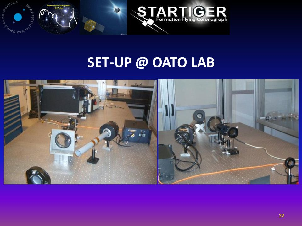 SET-UP @ OATo LAB