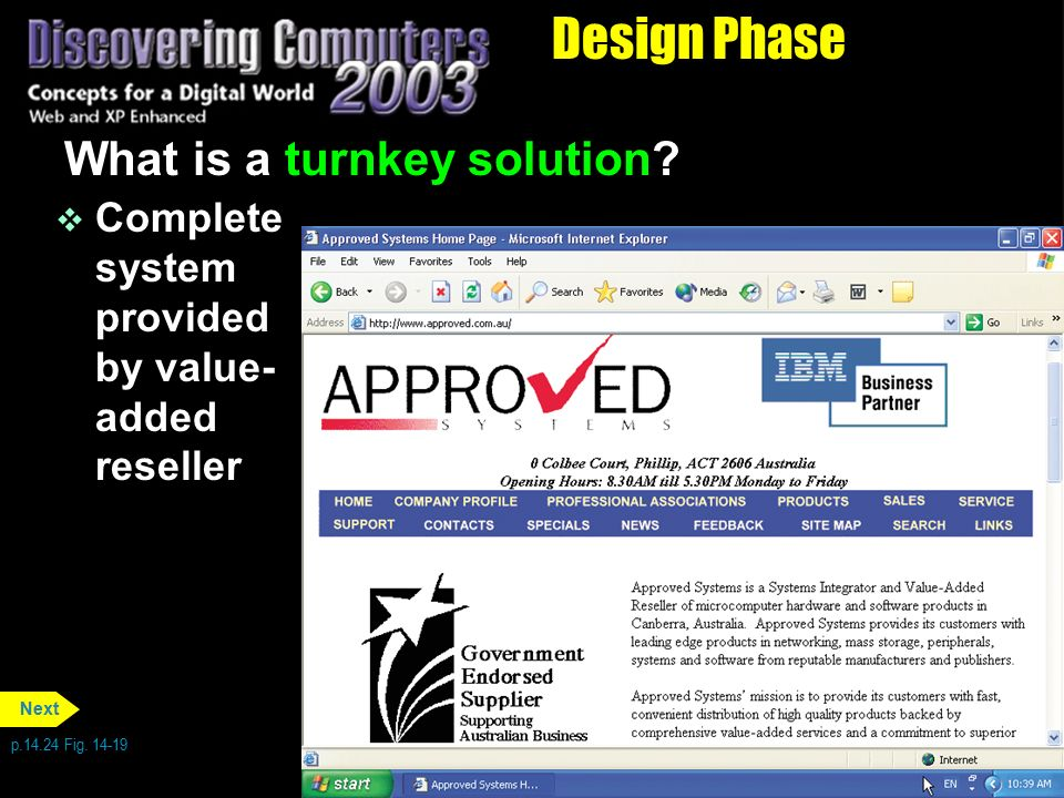 Design Phase What is a turnkey solution