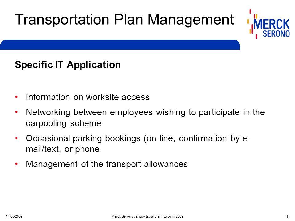 Transportation Plan Management