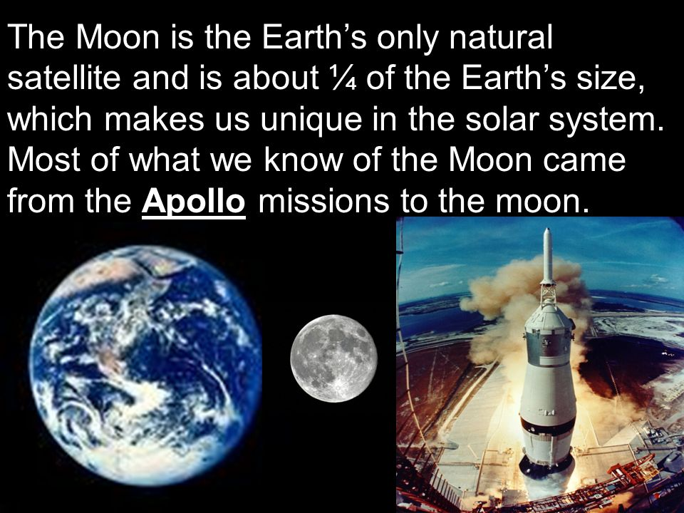 an introduction to the moon the only natural satellite of earth
