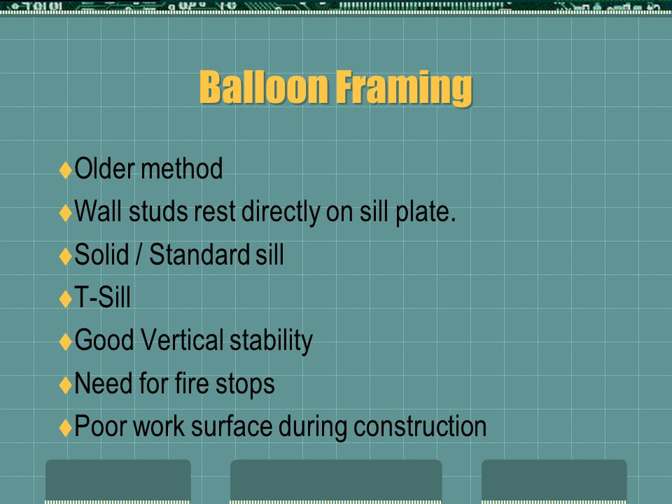 Sill And Floor Construction Ppt Video Online Download