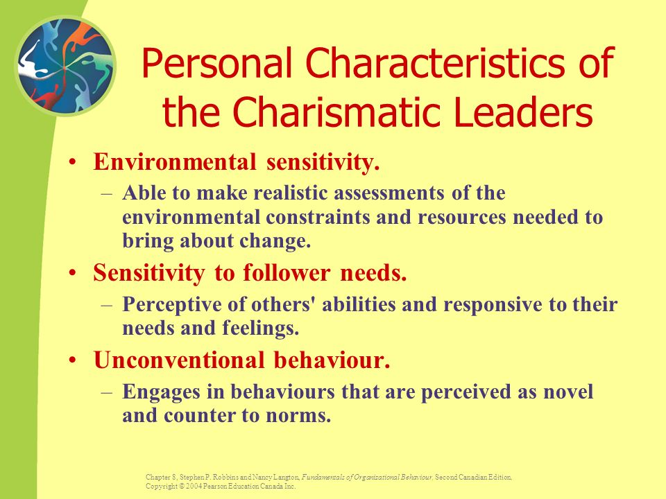 charismatic leadership characteristics ppt Keywords: charisma, charismatic leadership, transformational leadership  the  attribution of charismatic qualities to a leader depends on how the leader.