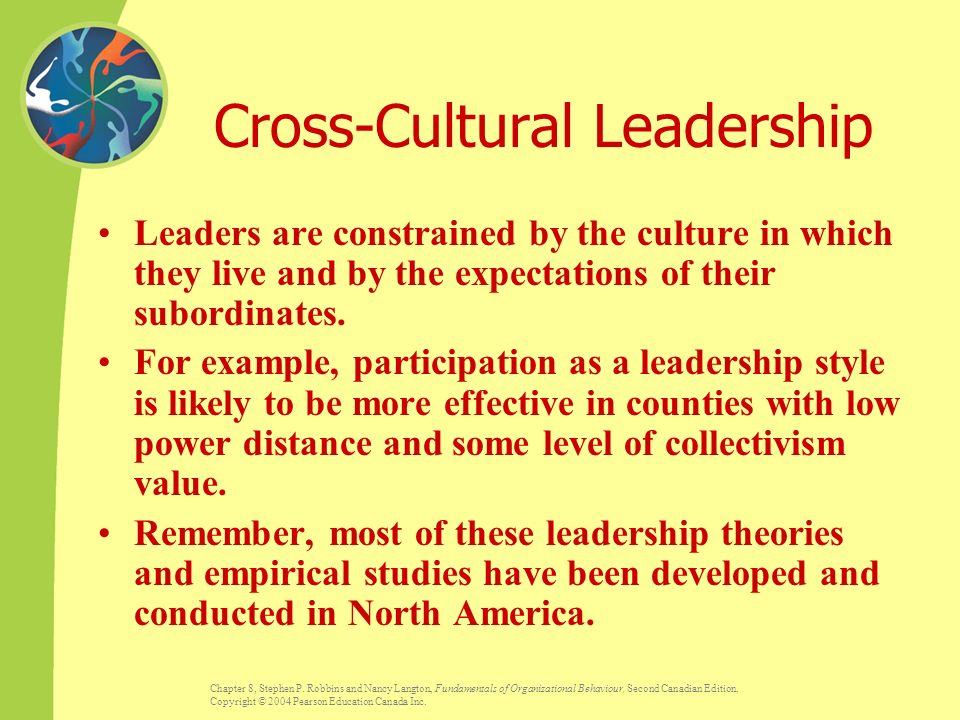 cross cultural leadership I was thrust into cross-cultural leadership about 8 years ago when i became interim-director of a bible institute in ukraine immediately after moving around the world to ukraine.