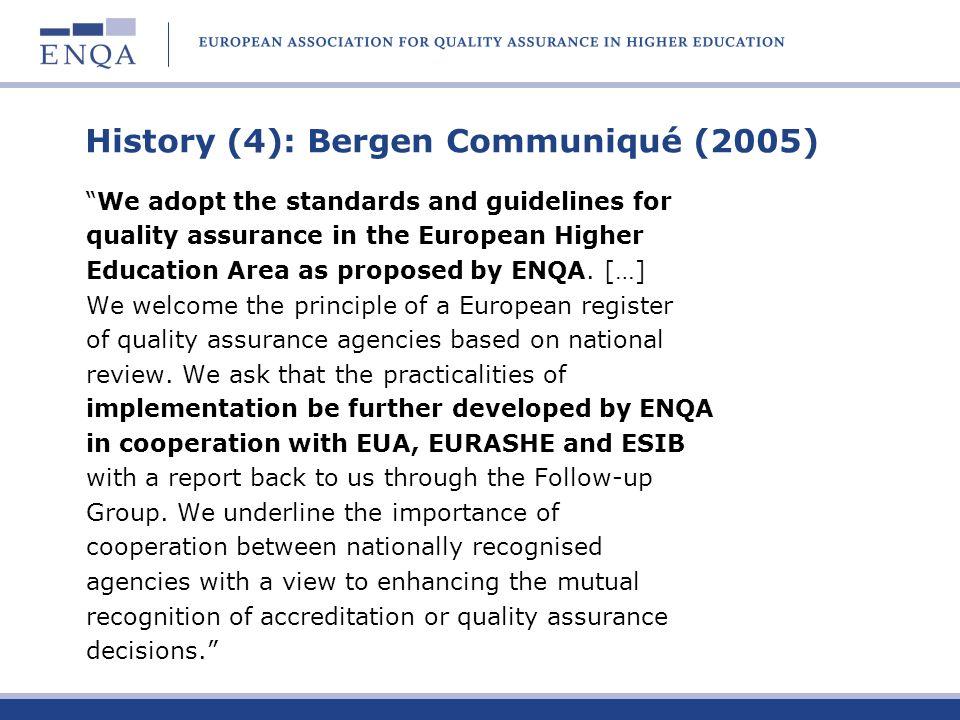 History (4): Bergen Communiqué (2005)