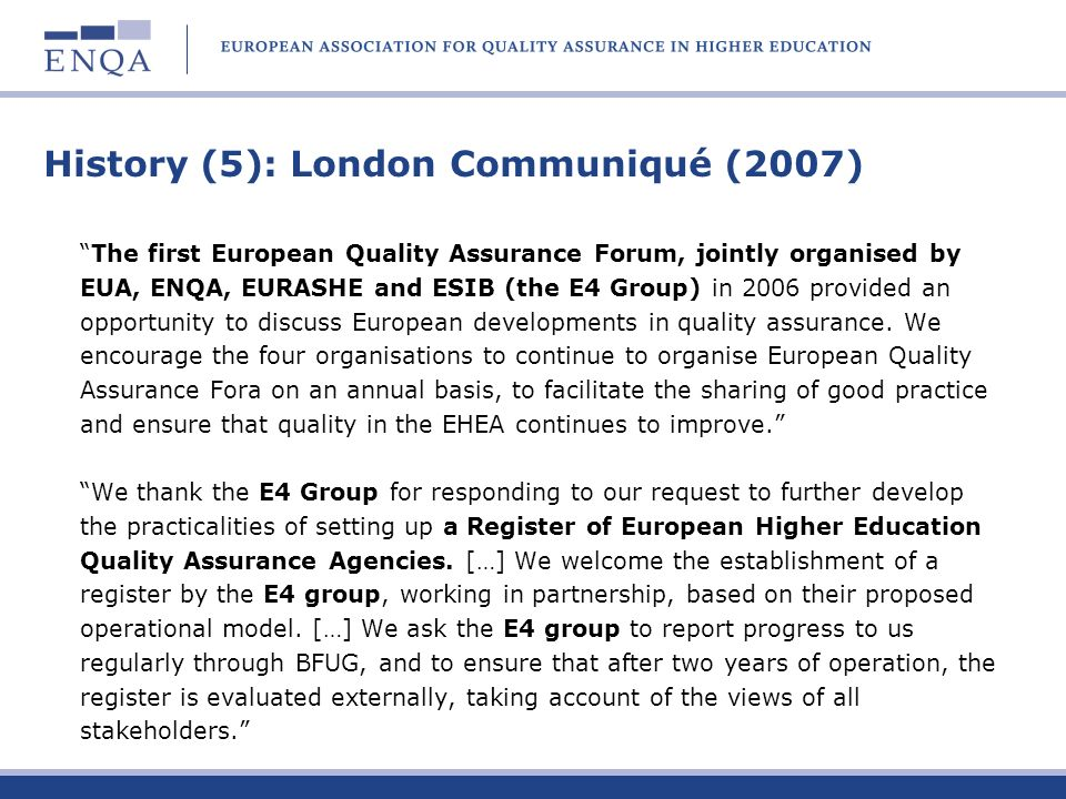 History (5): London Communiqué (2007)