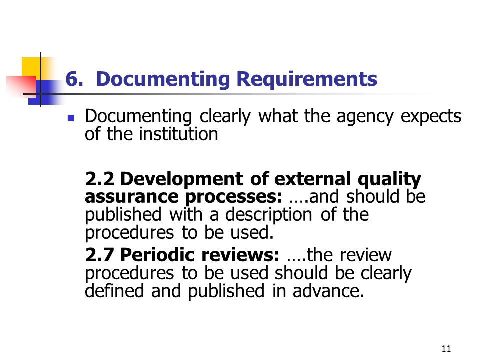 6. Documenting Requirements