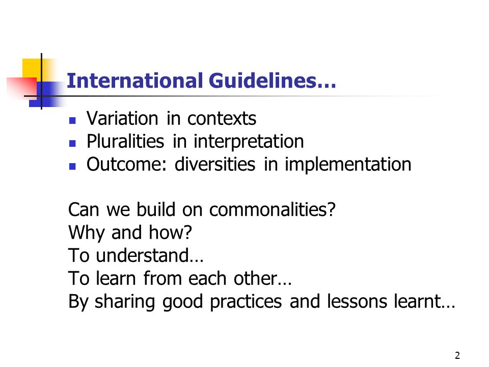 International Guidelines…