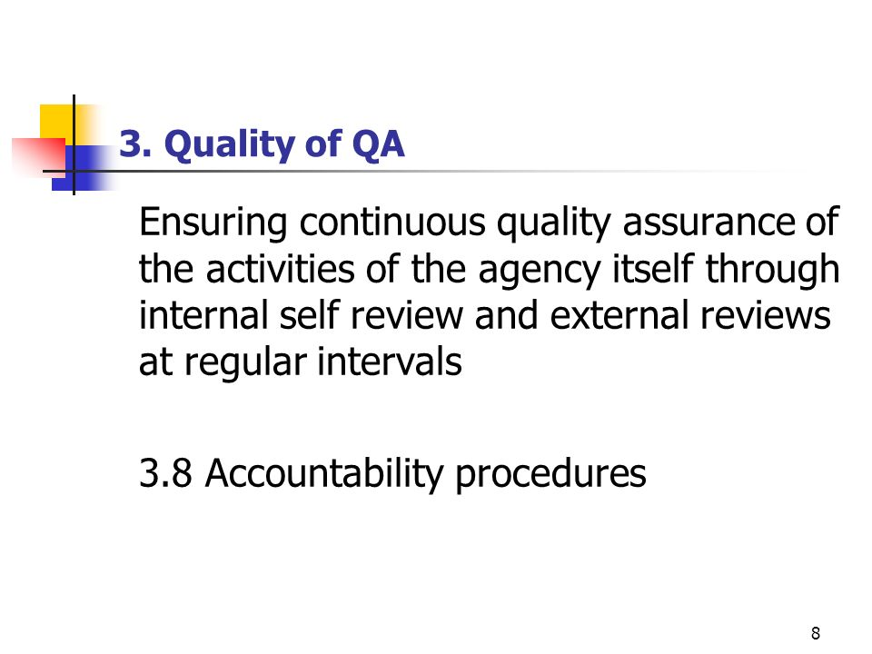 3.8 Accountability procedures