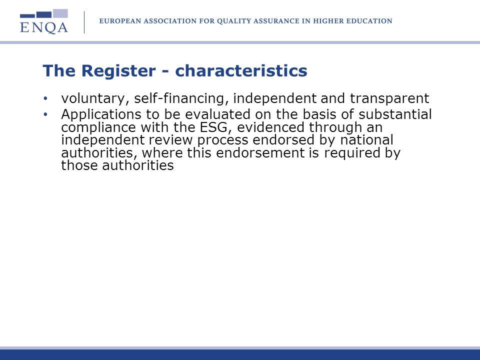 The Register - characteristics