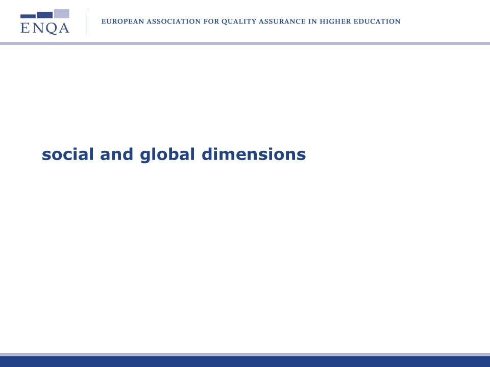 social and global dimensions