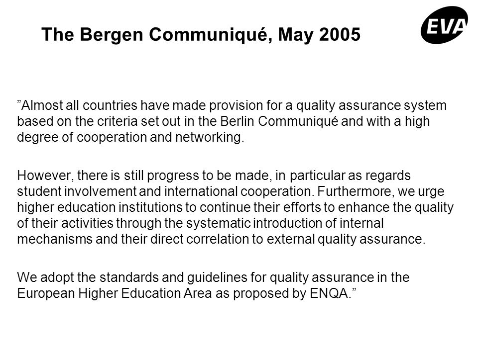 The Bergen Communiqué, May 2005