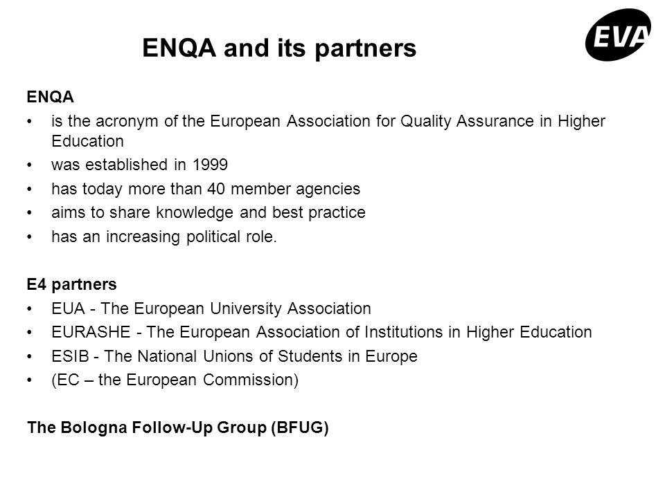 ENQA and its partners ENQA