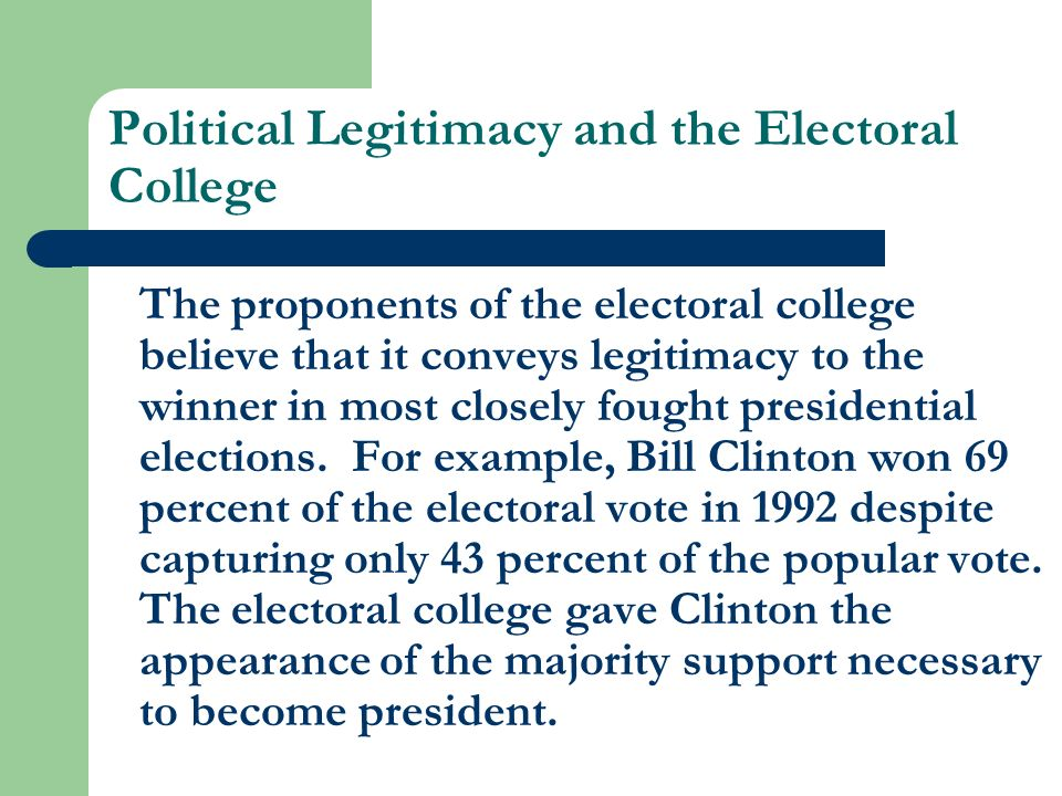 electoral college majority The electoral college and majority winners the electoral college's architects understood that an election with multiple candidates might produce a.