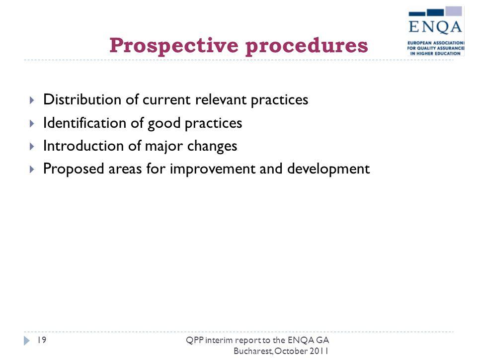 Prospective procedures