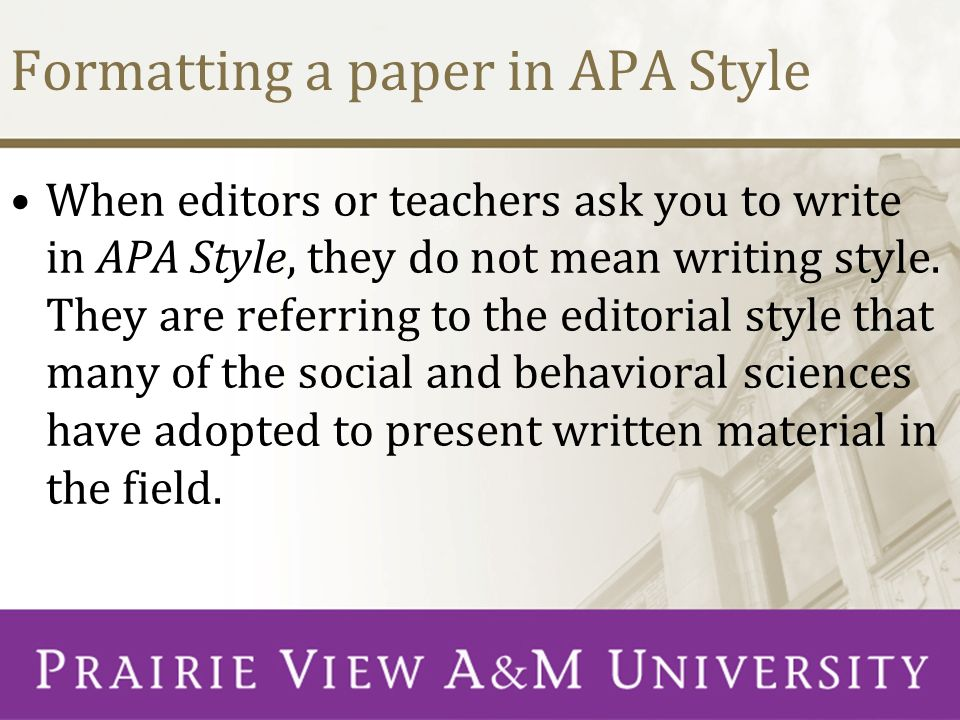 apa style for powerpoint