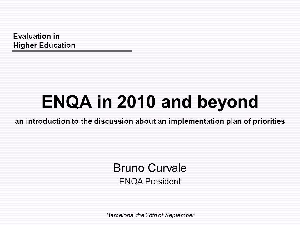 Bruno Curvale ENQA President