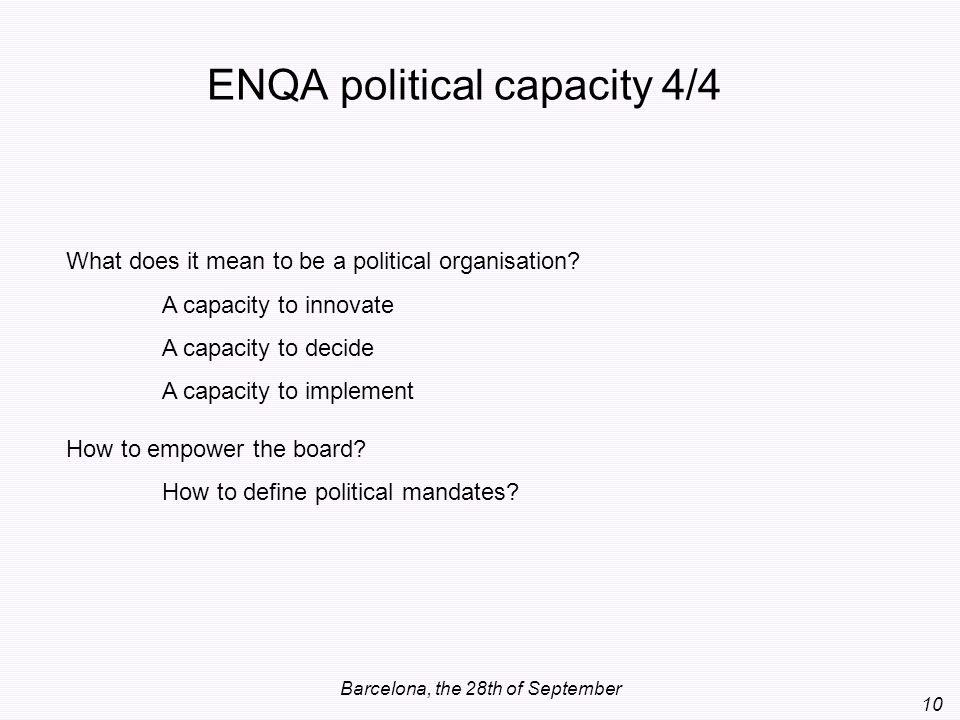 ENQA political capacity 4/4