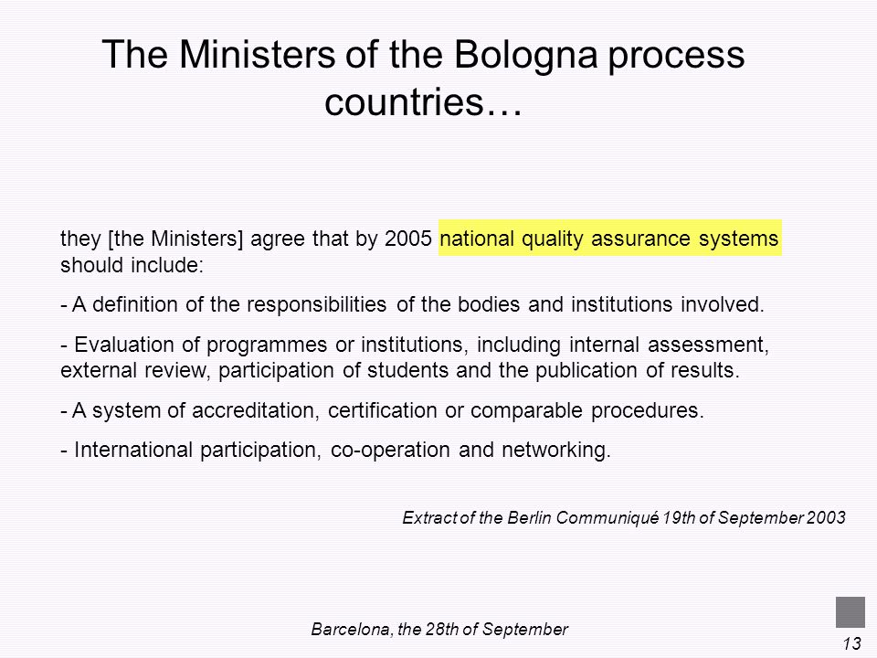 The Ministers of the Bologna process countries…