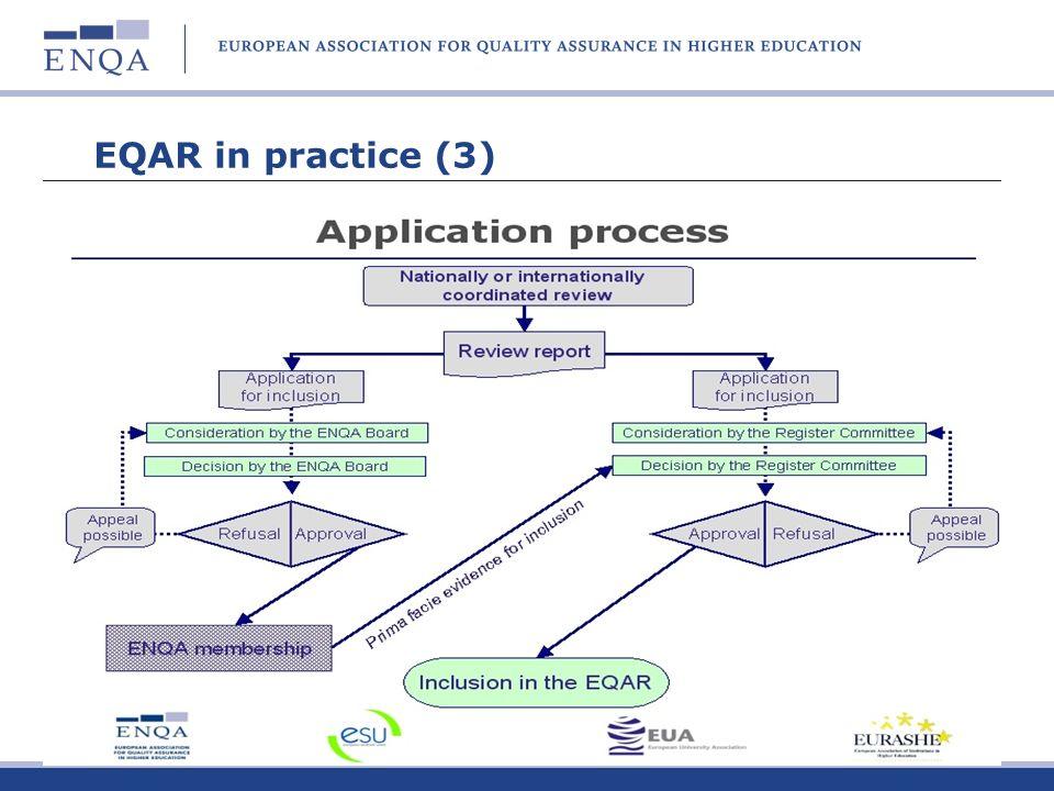 EQAR in practice (3)