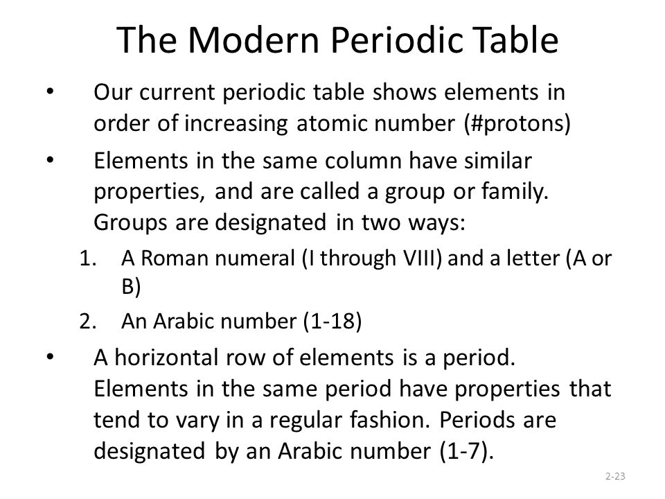 Periodic Table what are periods and groups in the modern periodic table : Periodic Table. - ppt download