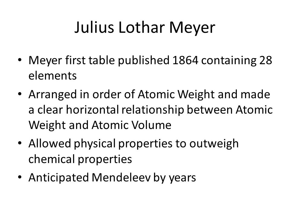 periodic table meyer periodic table periodic table ppt download - Tabla Periodica Julius Lothar Meyer