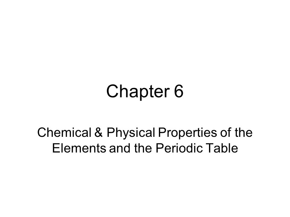 Periodic Table physical properties of elements on the periodic table luster : Chemical & Physical Properties of the Elements and the Periodic ...