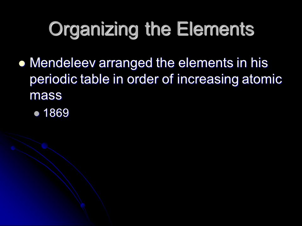 The periodic table and periodic trends ppt download organizing the elements urtaz Image collections