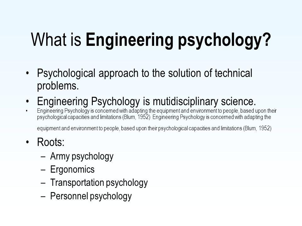 engineering psychology