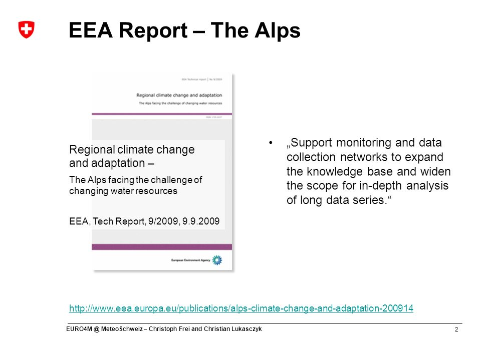 EEA Report – The Alps Water-tower of Europe Vital ecosystem services