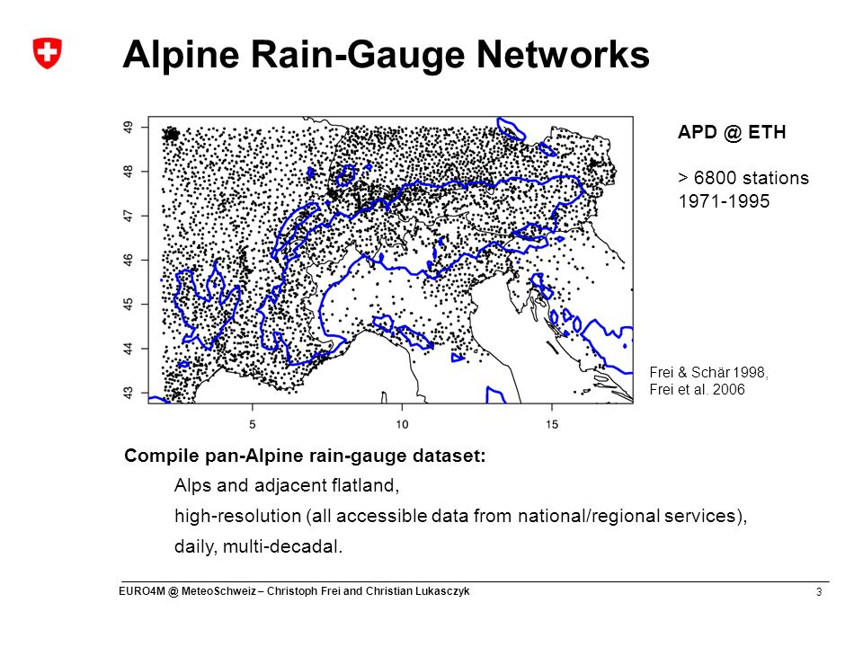 Alpine Rain-Gauge Networks