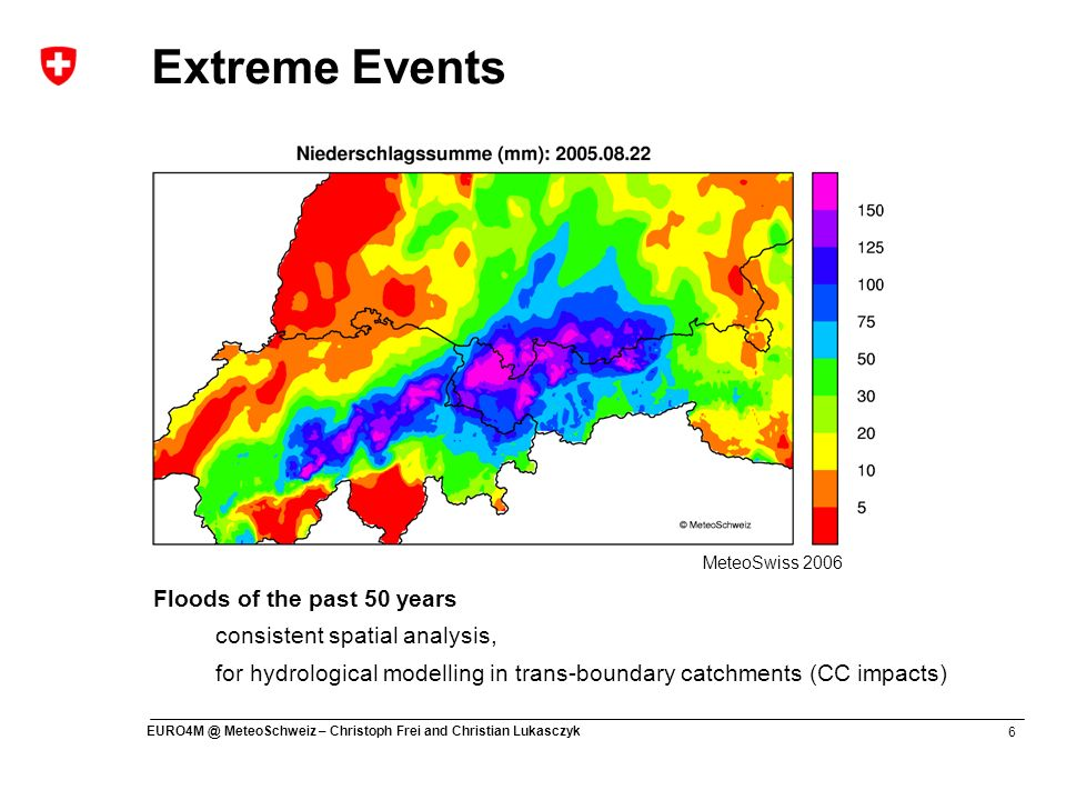 Extreme Events Floods of the past 50 years