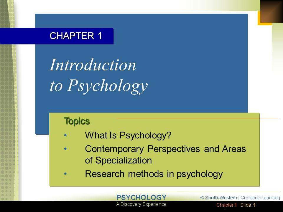 areas of specialization in psychology