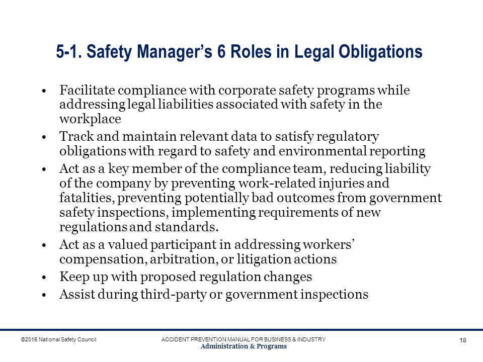 role safety management personal information Workplace safety teams and committees play a crucial role in workplace injury and illness-prevention efforts and are essential to achieving continuous improvements communicating and collaborating throughout the organization helps ensure that everyone is an active part of building and maintaining a safety culture.