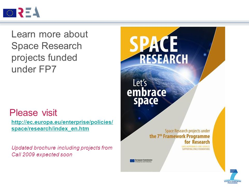 Learn more about Space Research projects funded under FP7