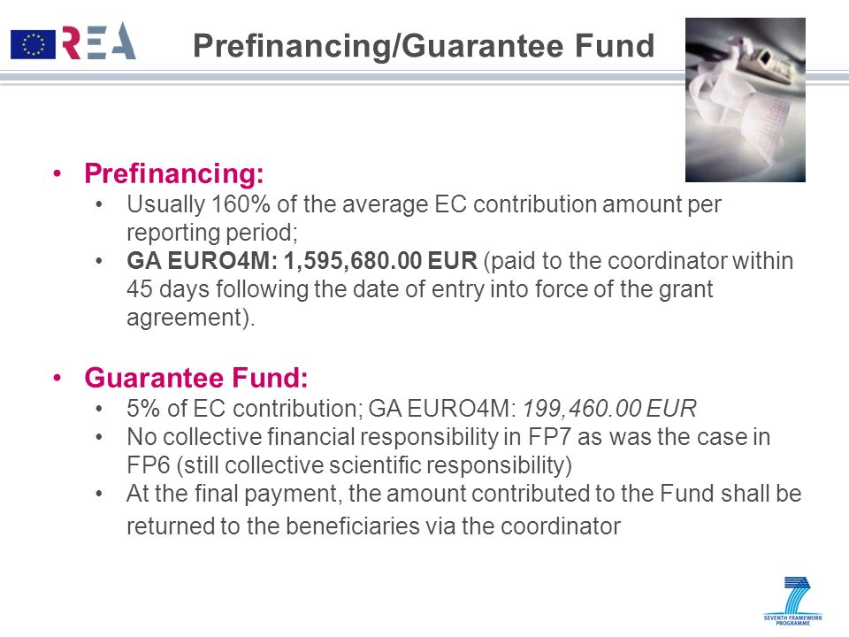 Prefinancing/Guarantee Fund