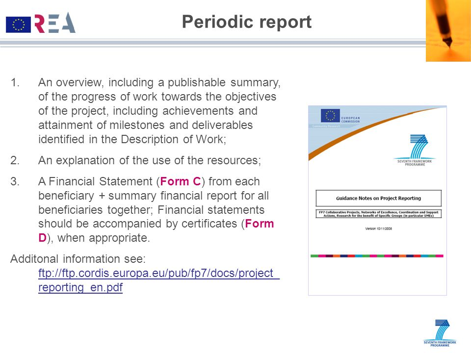 Periodic report