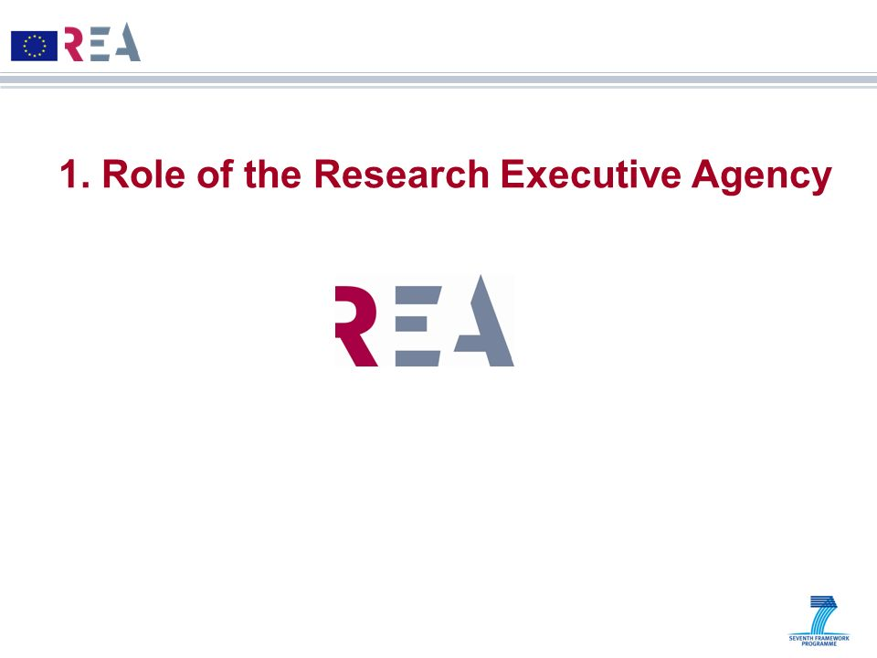1. Role of the Research Executive Agency