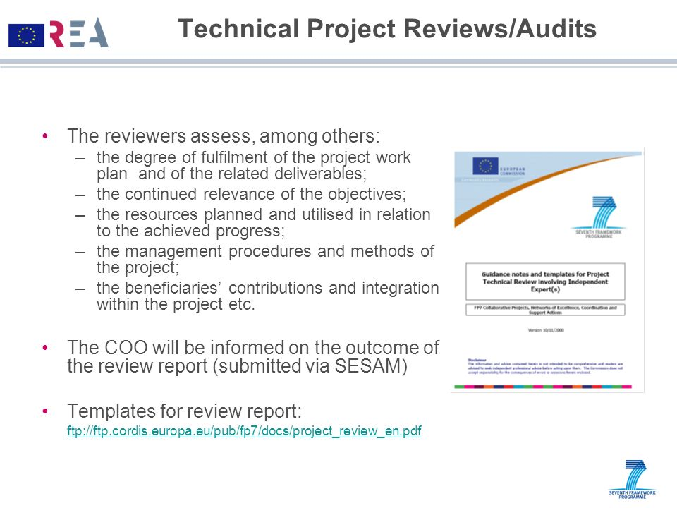 Technical Project Reviews/Audits