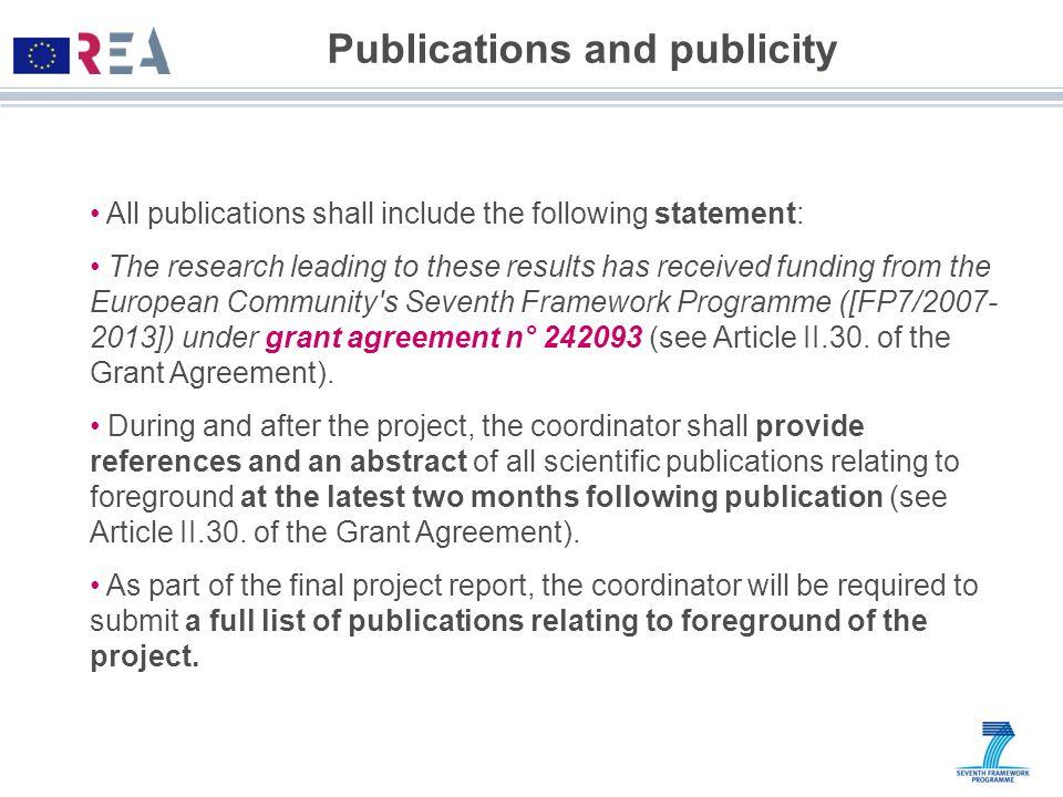 Publications and publicity