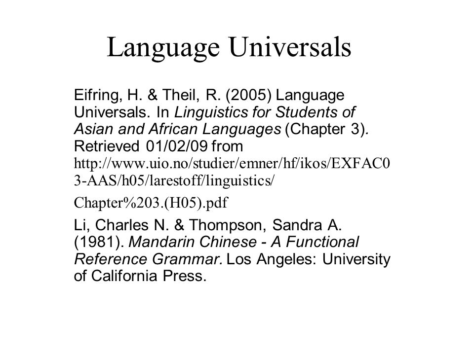 properties of language in linguistics pdf
