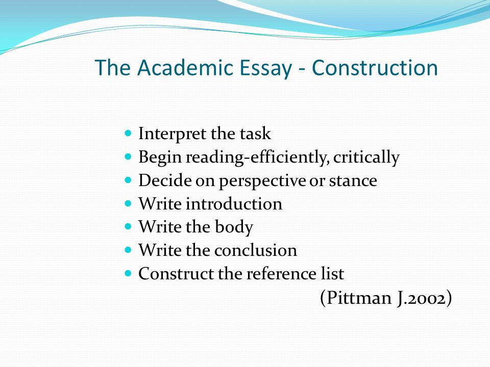 the academic essay Check out the samples of essays, research papers, coursework, and other assignments at rushessaycom we deliver unique content for each customer.